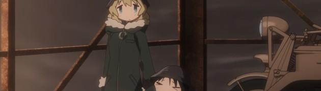 『百合アニメ情報』少女終末旅行 第3話「遭遇」「都市」「街灯」